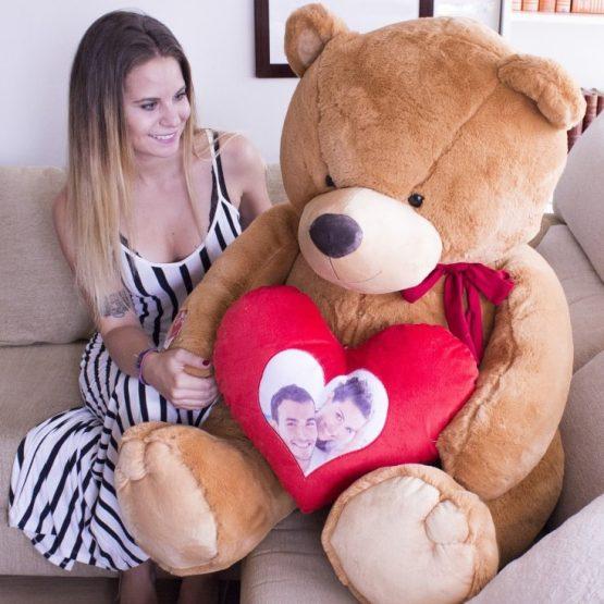 Peluche Urso Gigante Personalizável com Foto ou Texto 135/165cm