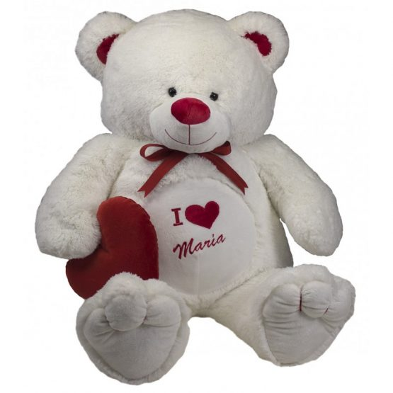 Peluche Personalizado Urso Branco Gigante 125/165cm
